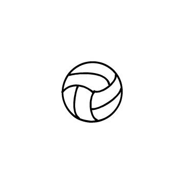 バレーボールのアイコンのアイキャッチ用画像