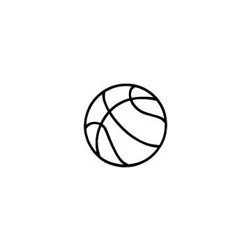 バスケットボールのアイコンのアイキャッチ用画像