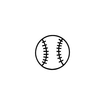 野球のボールのアイコンのアイキャッチ用画像