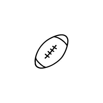 ラグビーボールのアイコンのアイキャッチ用画像
