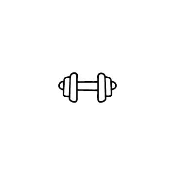 鉄アレイ、ダンベルのアイコンのアイキャッチ用画像