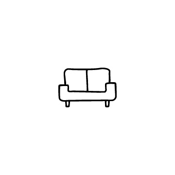 二人掛けソファのアイコンのアイキャッチ用画像