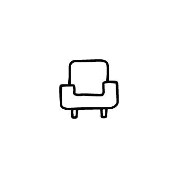 一人掛けソファのアイコン