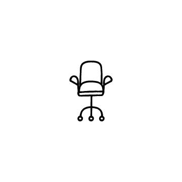 キャスター付きの椅子のアイコンのアイキャッチ用画像