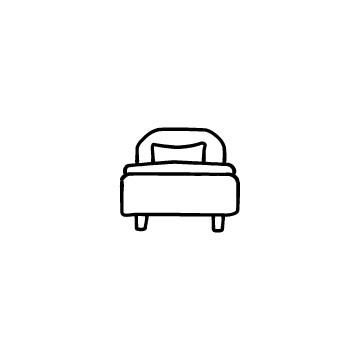 ベッドのアイコンのアイキャッチ用画像