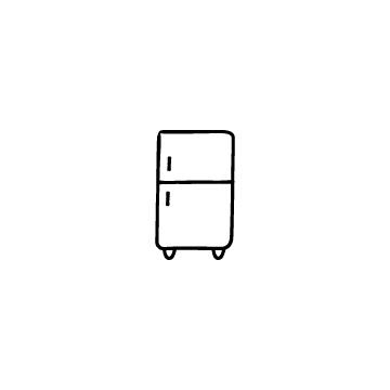 冷蔵庫のアイコン