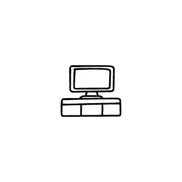 テレビとテレビ台のアイコン