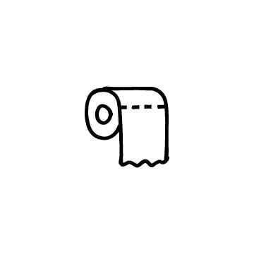 トイレットペーパーのアイコンのアイキャッチ用画像