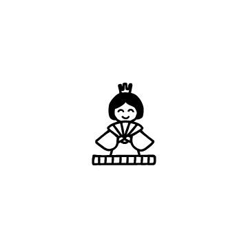 お雛様の雛人形アイコンのアイキャッチ用画像