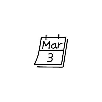 カレンダー(3月3日)のアイコン
