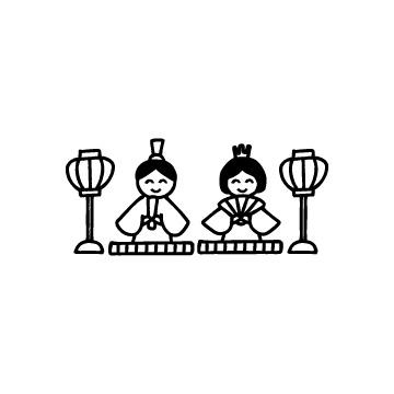 ひな祭り・ひな人形のアイコン