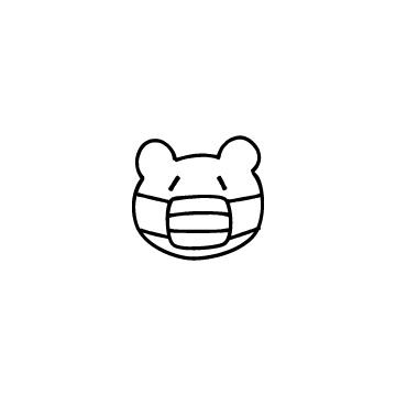 マスクをしているくまのアイコンのアイキャッチ用画像