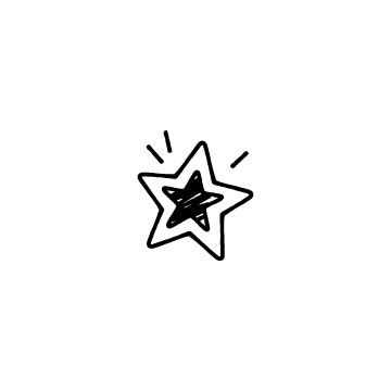 真ん中を黒く塗ったの星のアイコン