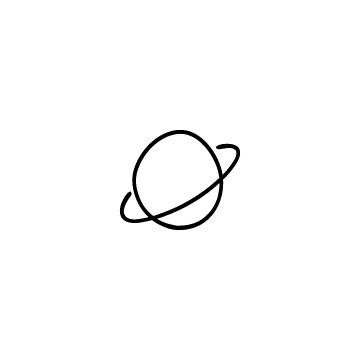 土星のアイコンのアイキャッチ用画像