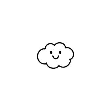 笑顔の雲のアイコン