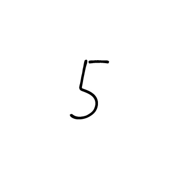 手書きの数字の5のアイコンのアイキャッチ用画像