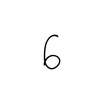 手書きの数字の6のアイコンのアイキャッチ用画像