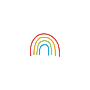 カラフルな虹のアイコンのアイキャッチ用画像