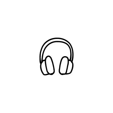 ヘッドフォンのアイコンのアイキャッチ用画像
