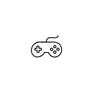 丸っぽいゲームコントローラーのアイコンのアイキャッチ用画像