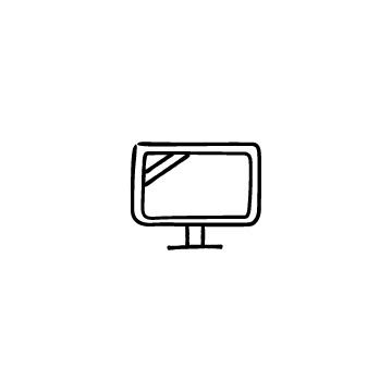 テレビ・モニターのアイコンのアイキャッチ用画像