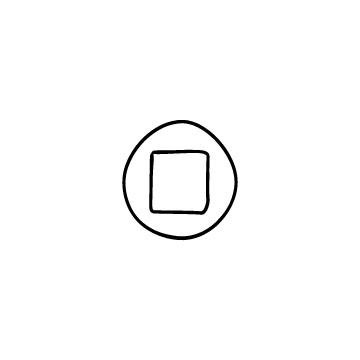 丸い停止ボタンのアイコン