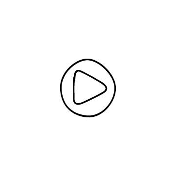 丸い再生ボタンのアイコン