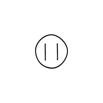 丸い一時停止ボタンのアイコンのアイキャッチ用画像