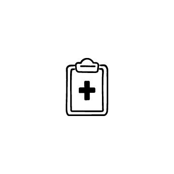 医療用カルテのアイコンのアイキャッチ用画像