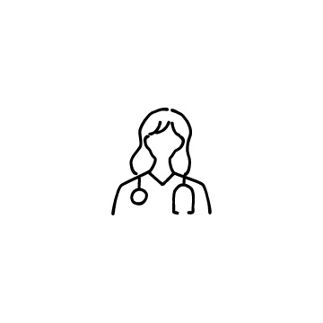 女性医師のアイコンのアイキャッチ用画像