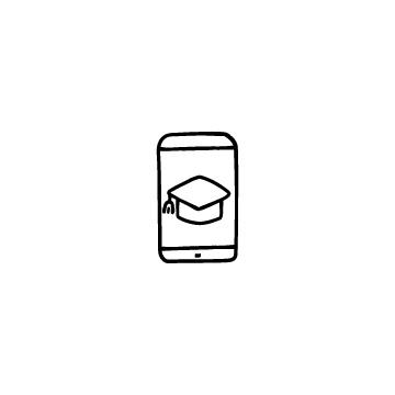 スマホと博士帽のアイコンのアイキャッチ用画像