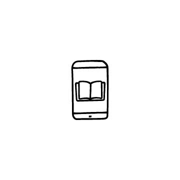 オンライン授業(スマホと本)のアイコン