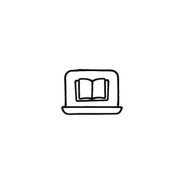 ノートパソコンと本のアイコンのアイキャッチ用画像