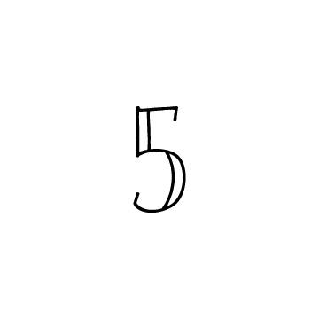 数字の5のアイコン