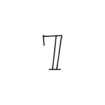 数字の7のアイコン