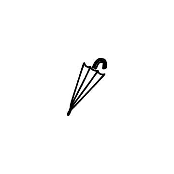 閉じている傘のアイコンのアイキャッチ用画像