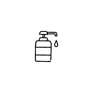 消毒液のボトルのアイコンのアイキャッチ用画像