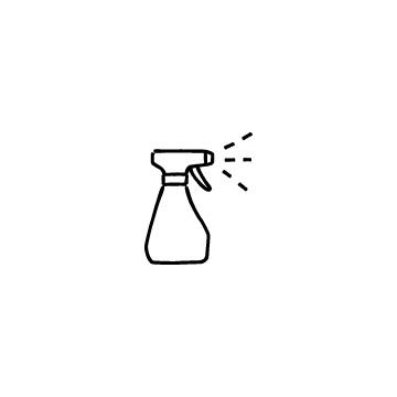 スプレーボトルのアイコンのアイキャッチ用画像