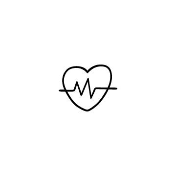 心拍数のアイコン