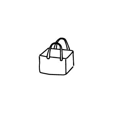 レジかごバッグのアイコンのアイキャッチ用画像