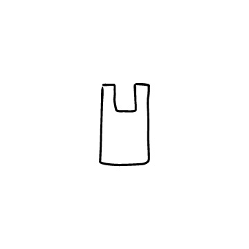 レジ袋のアイコンのアイキャッチ用画像