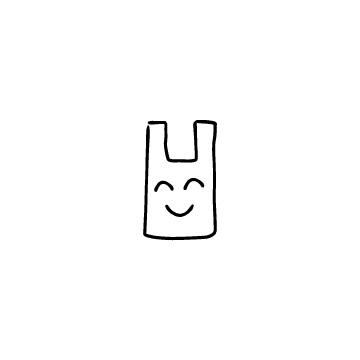 レジ袋(笑顔)のアイコン