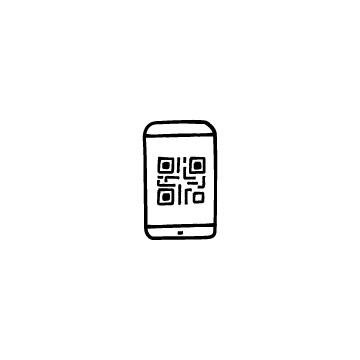 スマホとQRコードのアイコン