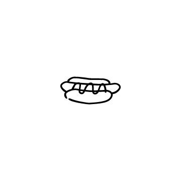 ホットドッグのアイコンのアイキャッチ用画像
