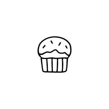 カップケーキのアイコンのアイキャッチ用画像