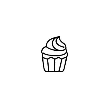 クリームのカップケーキのアイコンのアイキャッチ用画像