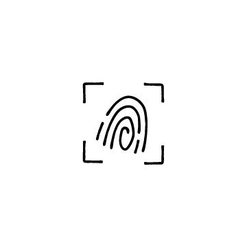 指紋スキャンのアイコン
