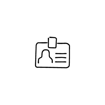 横型のIDカードのアイコン