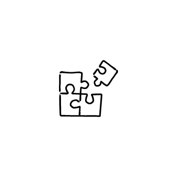 1ピース外れているジグソーパズルのアイコンのアイキャッチ用画像