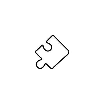 パズルピースのアイコンのアイキャッチ用画像